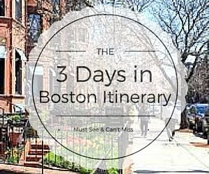 The insiders' guide to experiencing Boston in 3 days. This popular Boston itinerary covers the best things to do during your Boston vacation.