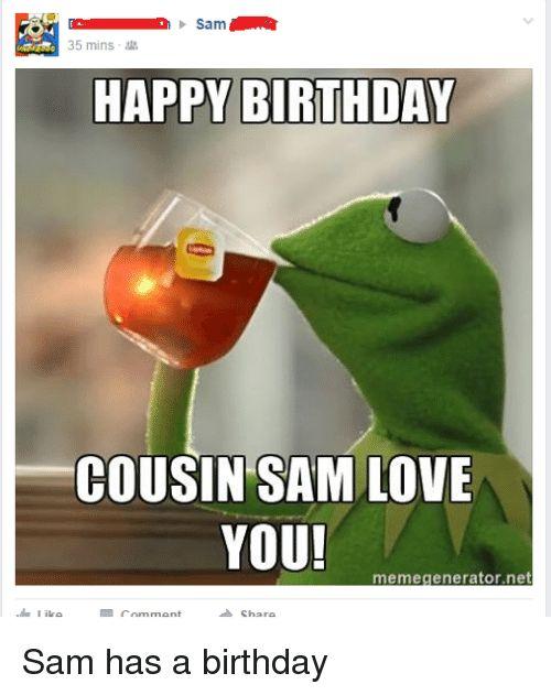 Cousin Birthday Meme