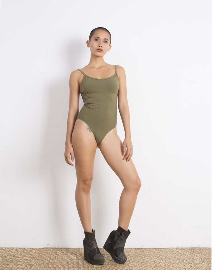 Olive Bodysuit Organic Cotton