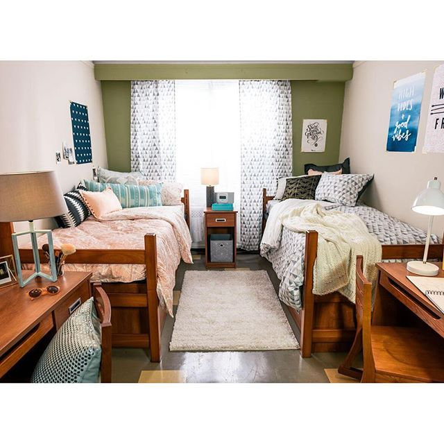 Serious room goals going on at @studenthousingnyc  ~ 060108_Classy Dorm Room Ideas