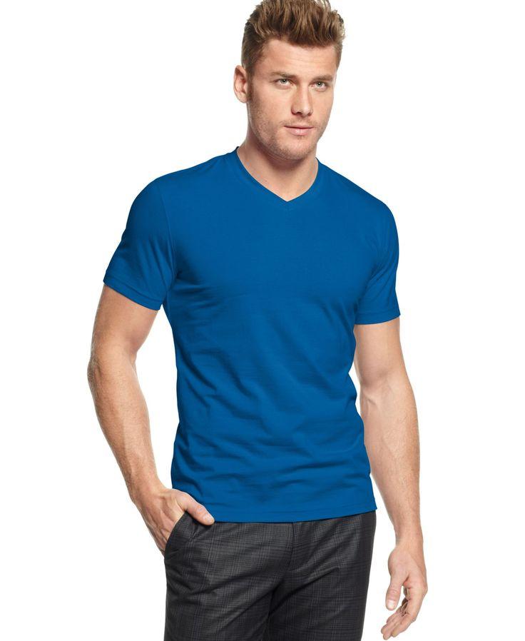 Alfani Big and Tall T-Shirt, Stretch V Neck Tee