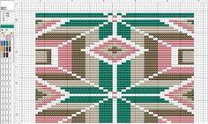 Patroon Mochila bruin/groen #chart