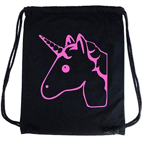 PREMYO Bolsa de cuerdas negra 100% algodón con motivo Unicornio dulce. Mochila con cuerdas con impresión Unicornio en rosa de alta calidad. Gymsac con cordón. Saco de gimnasio ideal para viajar #PREMYO #Bolsa #cuerdas #negra #algodón #motivo #Unicornio #dulce. #Mochila #impresión #rosa #alta #calidad. #Gymsac #cordón. #Saco #gimnasio #ideal #para #viajar