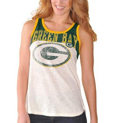 Green Bay Packers Ladies Switch Hitter Tank Top - White/Green