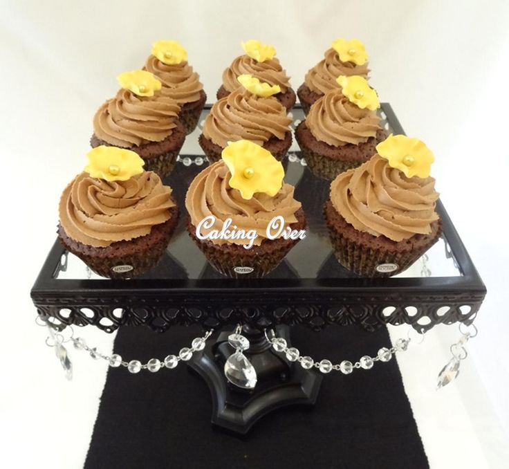 Ferrero Rocher cupcakes by Caking Over