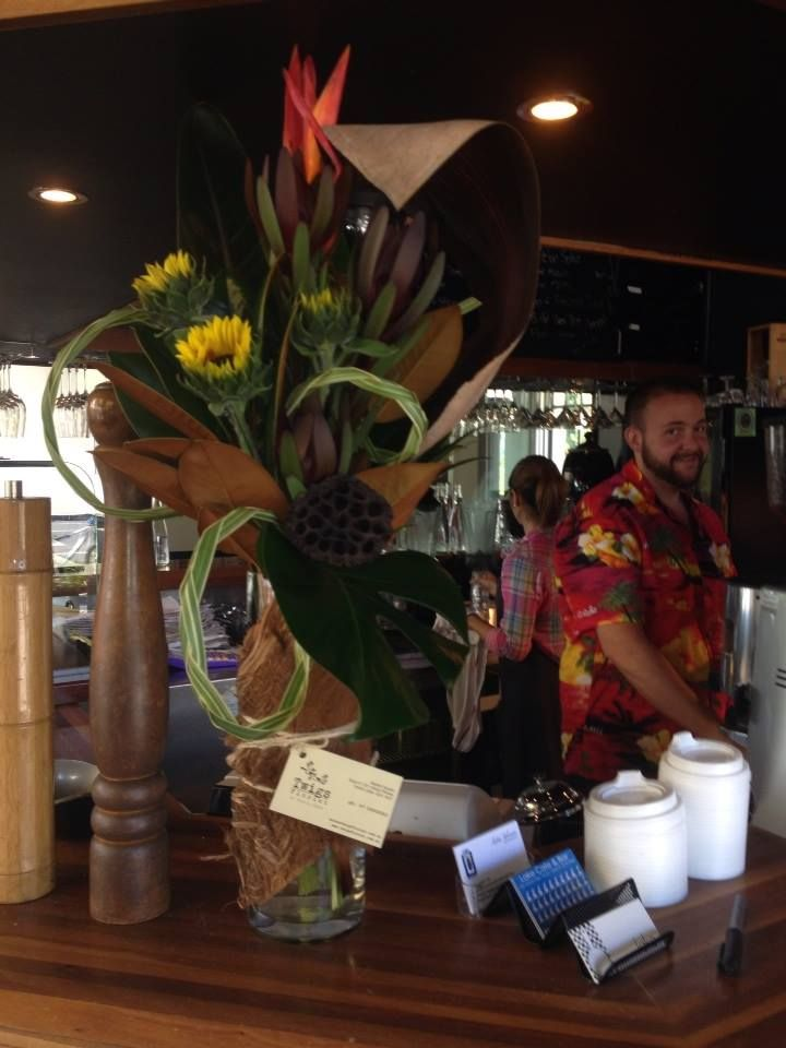 Corporate flowers at the Lake cafe, Varsity Lakes.