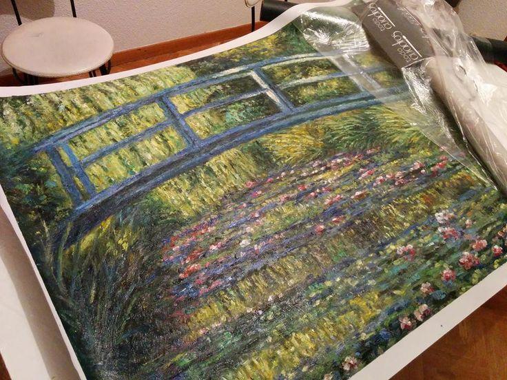 """Copia del dipinto """"Lo stagno delle ninfee"""" di Monet http://www.tuttiquadri.it/monet/stagno-ninfee.htm"""