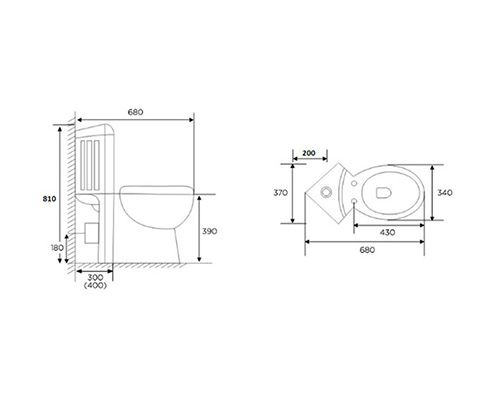 Metro Compact Corner Toilet   V30121055PH tech drawing square medium. Best 25  Corner toilet ideas on Pinterest   Bathroom corner basins