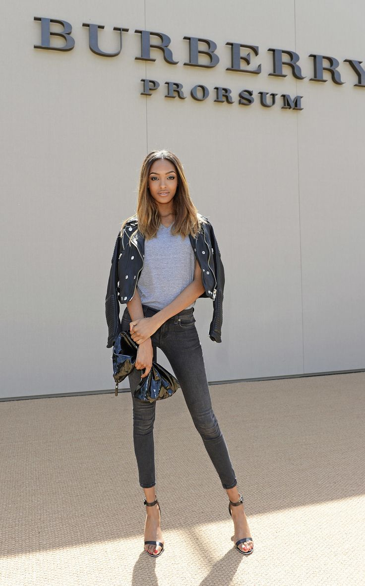 Jourdan Dunn at the Burberry Prorsum Men's Fashion Week show.