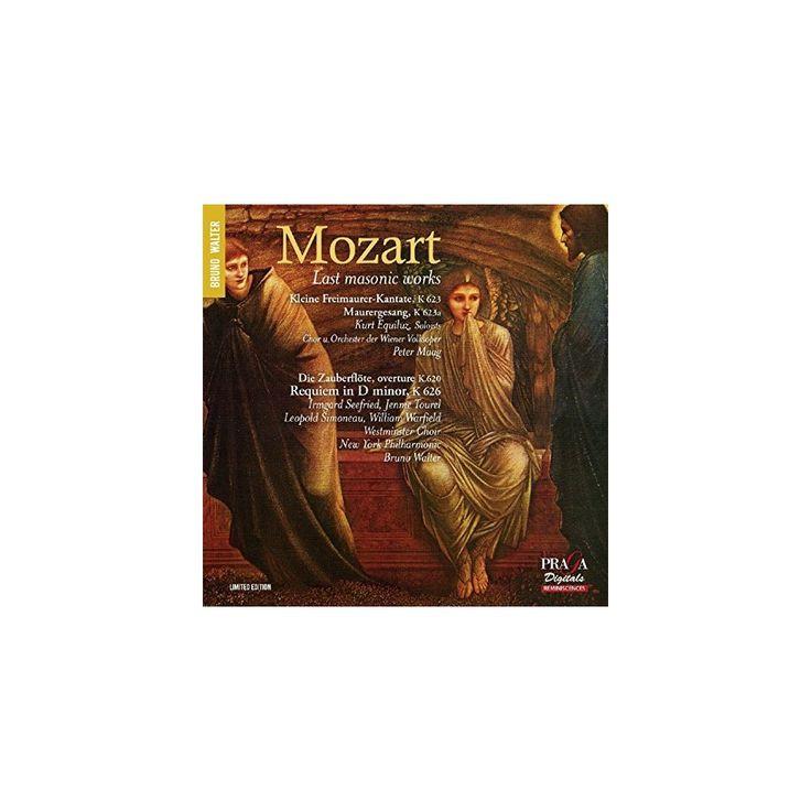 Mozart & Bruno Walter - Last Masonic Works (CD)