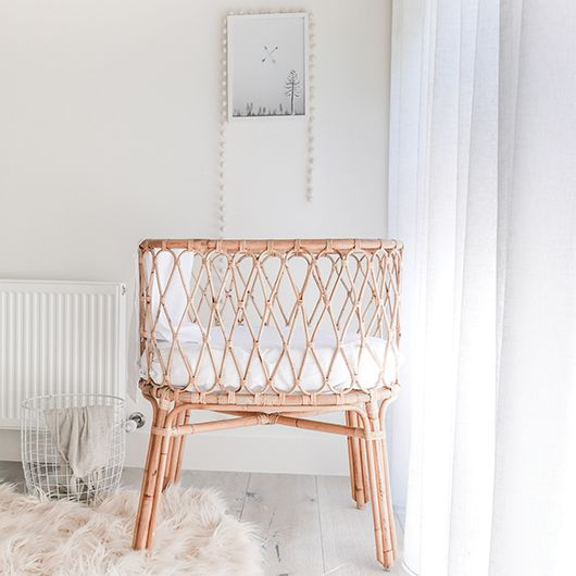 Vintage nurseries with beautiful rattan cots or bassinets. Full of love and history. Mixed with modern elements these make for sweet spaces.