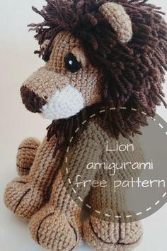 Un bellissimo e tenerissimo leone ad amigurumi, completo di schema gratis, in lingua inglese