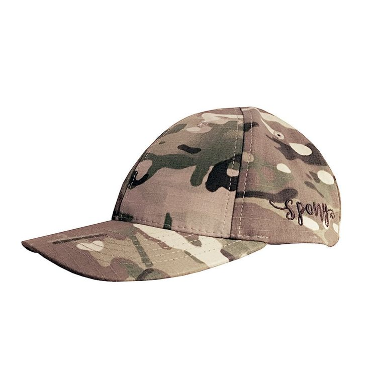 NOW MADE IN THE USA! See FAQ's Below This Camo, Cotton Twill Spony Ponytail Ballcap with a Side Spony Brown Logo makes you ready for any of the challenges in your life. Sometimes life may feel like Bo