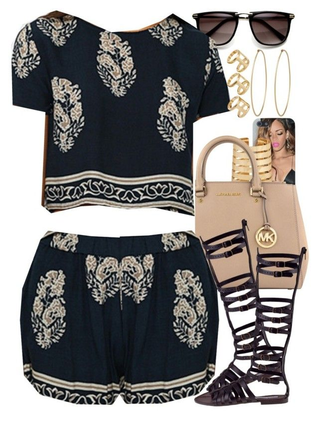 """""""Untitled #1375"""" by power-beauty ❤ liked on Polyvore featuring Forever 21, MICHAEL Michael Kors, Steve Madden, ASOS and Social Anarchy"""