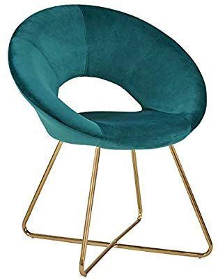 Duhome Chaise Salle A Manger En Tissu Velours Vert Bleu Chaise De