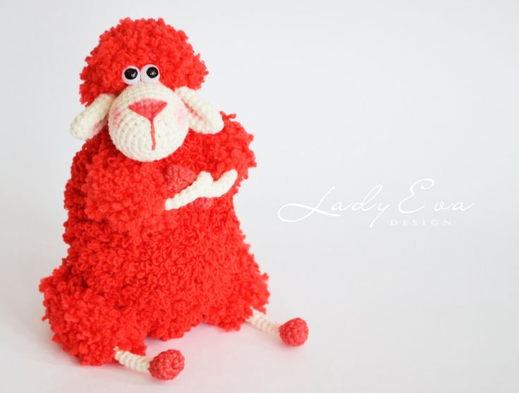 Valentine's Day Gift crochet toys Crochet sheep stuffed sheep amigurumi lamb crochet softie crochet animal Stuffed Toy  - Red sheep crochet toys amigurumi sheep play lamb present for her stuffed animals soft toy sheep baby decor lamb sheep toy baby gift ideas gift for kids plush stuffed animal gifts for children Valentine's Day Gift 35.00 USD #goriani