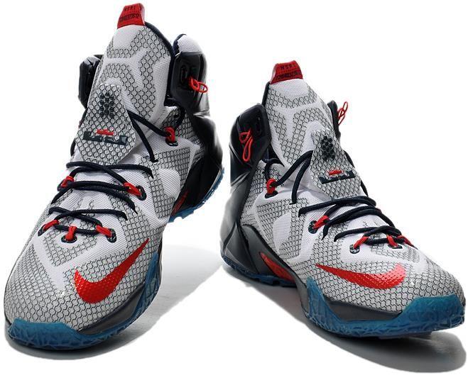 Nike Lebron 12 Crystal Blue Black White Shoes0