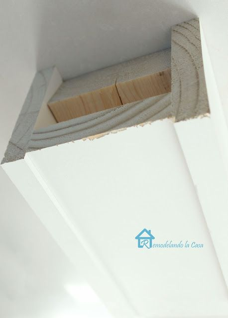 Faux Beam between our living/dining area where the ceiling height changes?  faux beam tutorial