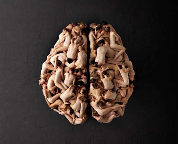 Mighty Optical Illusions shared this brain made of humans!