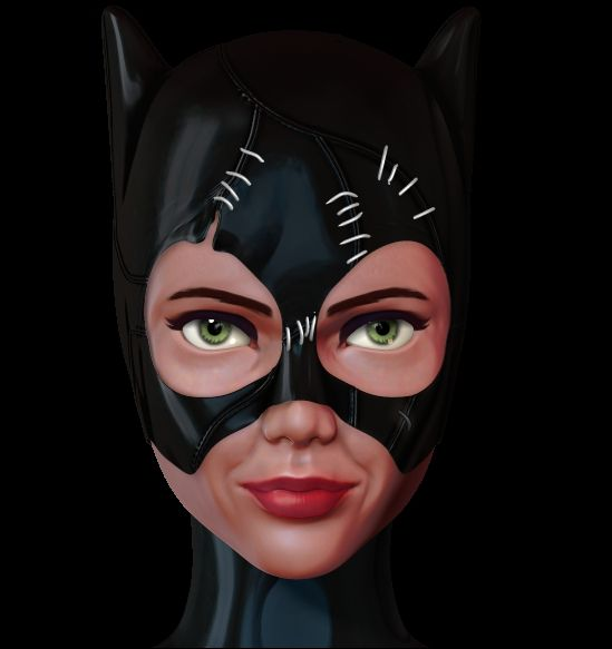WIP Catwoman 3d figure by Nalimn on DeviantArt
