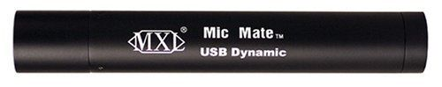 MXL-MICMATE DYNAMIC XLR To USB Preamp for  Dynamic Mics by MXL. $54.25. This pocket-sized device features a 16-bit Delta Sigma A/D converter with a sampling rate of 44.1 and 48.0 kHz. The Mic Mate™ Dynamic is optimized for use with dynamic microphones, providing enhanced front end gain, and no phantom power. Record directly into your computers USB port with your favorite dynamic mic.
