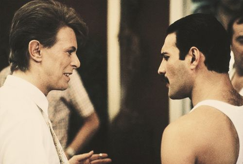 Image de david bowie, Freddie Mercury, and Queen