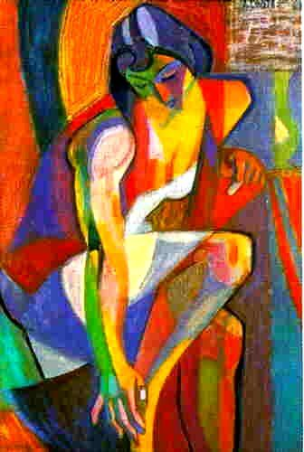 André Lhote was a French sculptor and painter of figure subjects, portraits, landscapes and still life. He was also very active and influential as a teacher and writer on art. After initially working in a Fauvist style, Lhote shifted towards Cubism and joined the Section d'Or group in 1912, exhibiting at the Salon de la Section d'Or. He was alongside some of the fathers of modern art, including Gleizes, Villon, Duchamp, Metzinger, Picabia and La Fresnaye.