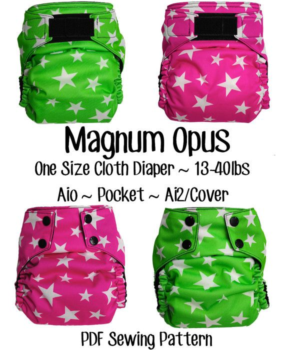 Magnum Opus Diaper pdf sewing pattern by OpulentMonsters on Etsy