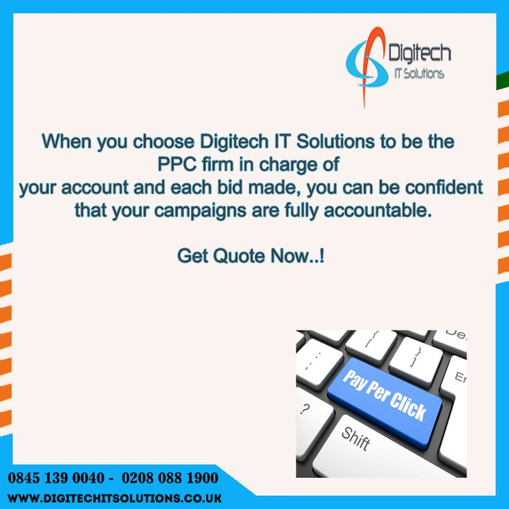 At Digitech IT Solutions, is a leading web marketing  Company and pay-per-click firm, we can build  and manage your advertising and pay-per-click    service campaign through  Internet search and display  channels, making you the answer  your prospects are looking for.
