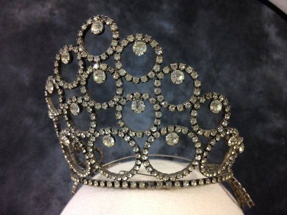 Vintage 1960's tiara beauty pageant crown by LorrelMae on Etsy