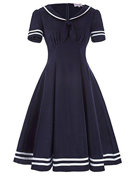 Pin Up Dresses | Pin Up Sailor Swing Dress