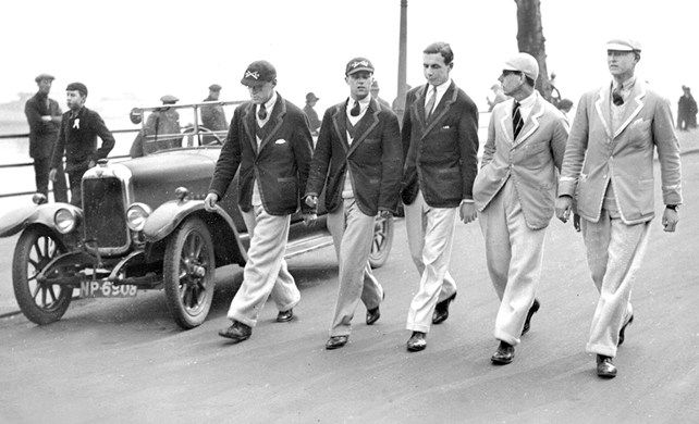 Maybe not for a wedding but don't they look dashing? Boat race fashion London in the 1920's