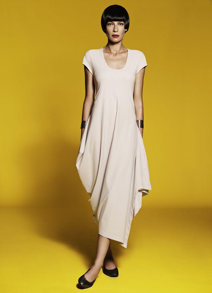 Cap Sleeve Draped Side Dress