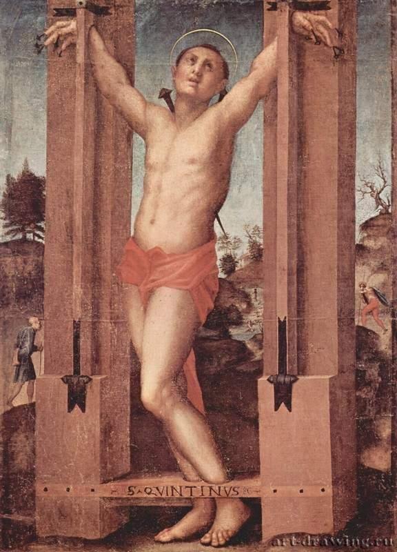 Понтормо. Св. Квентин. 1517-1518  Сансеполькро. Публичная пинакотека Тосканская школа, первоначально для Сан Франческо ди Борго Сансеполькро