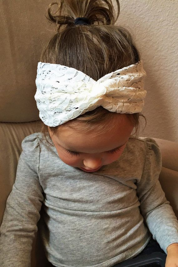 Cotton Lace turban headband by turbansfortots on Etsy