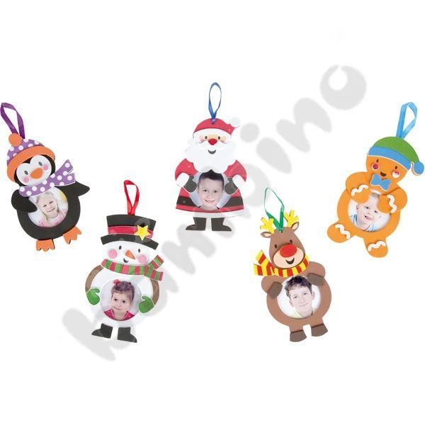 Świąteczne ramki do ozdabiania DIY  http://www.mojebambino.pl/produkty-do-ozdabiania/12417-swiateczne-ramki-do-ozdabiania.html