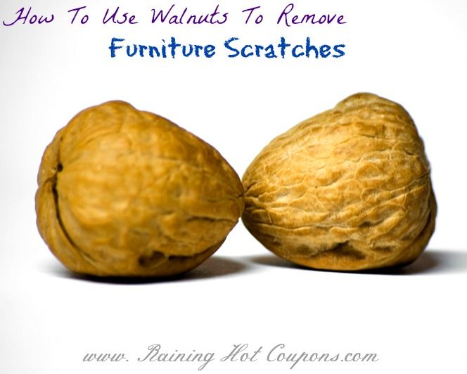 How To Use Walnuts To Remove Furniture Scratches #diy