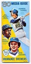 1980 Milwaukee Brewers Media Guide Gorman Thomas Cecil Cooper Sixto Lezcano