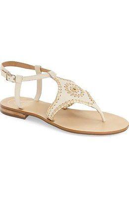 Jack Rogers Maci Sandal Size 8 Bone Gold
