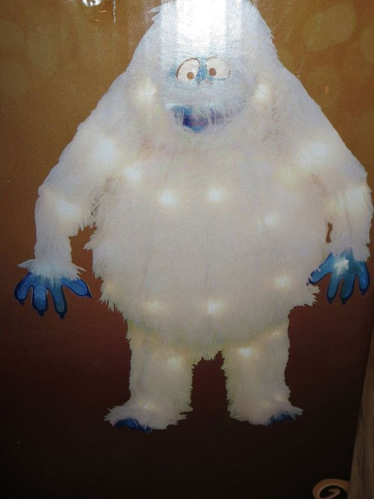 """18"""" Pre-Lit Bumble Rudolph Abominable Snowman Yard Tinsel Sculpture NEW #HomeAccents"""