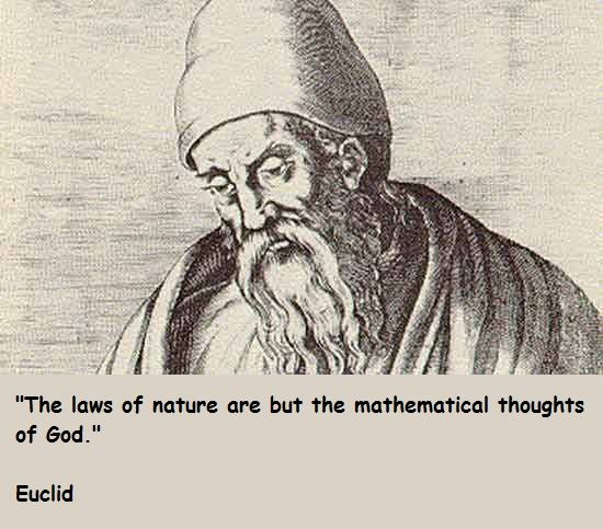 "Euclid was a Greek mathematician, often referred to as the ""Father of Geometry"". His Elements is one of the most influential works in the history of mathematics, serving as the main textbook for teaching mathematics (especially geometry) from the time of its publication until the late 19th or early 20th century."