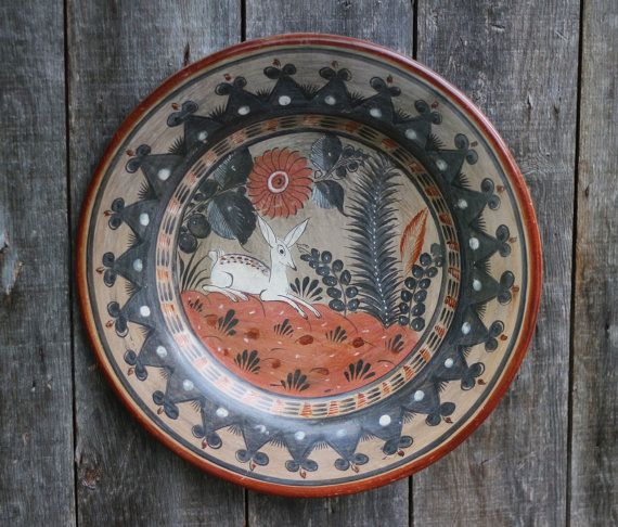 Vintage Hand Painted Mexican Plate