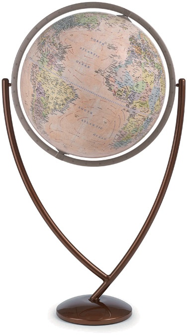 "The Columbo  20"" or 24"" Antique Ocean Floor Globe  http://www.1worldglobes.com/columbo_floor_antique.htm#"