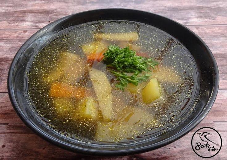 Vegán csontleves ízű leves