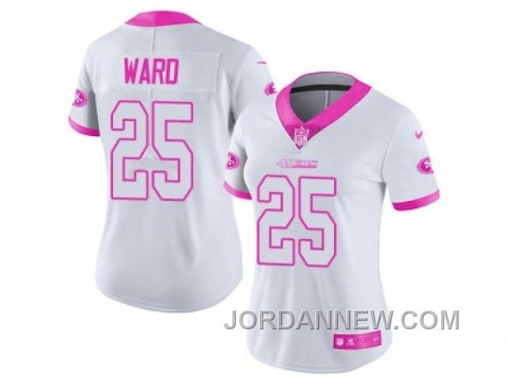 27e205e94 ... Buy Womens Nike San Francisco Eric Reid White Pink Stitched NFL Limited  Rush Fashion Jersey Top ...