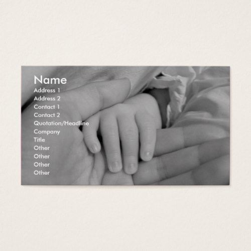 Loving Hands Child Care Business Card
