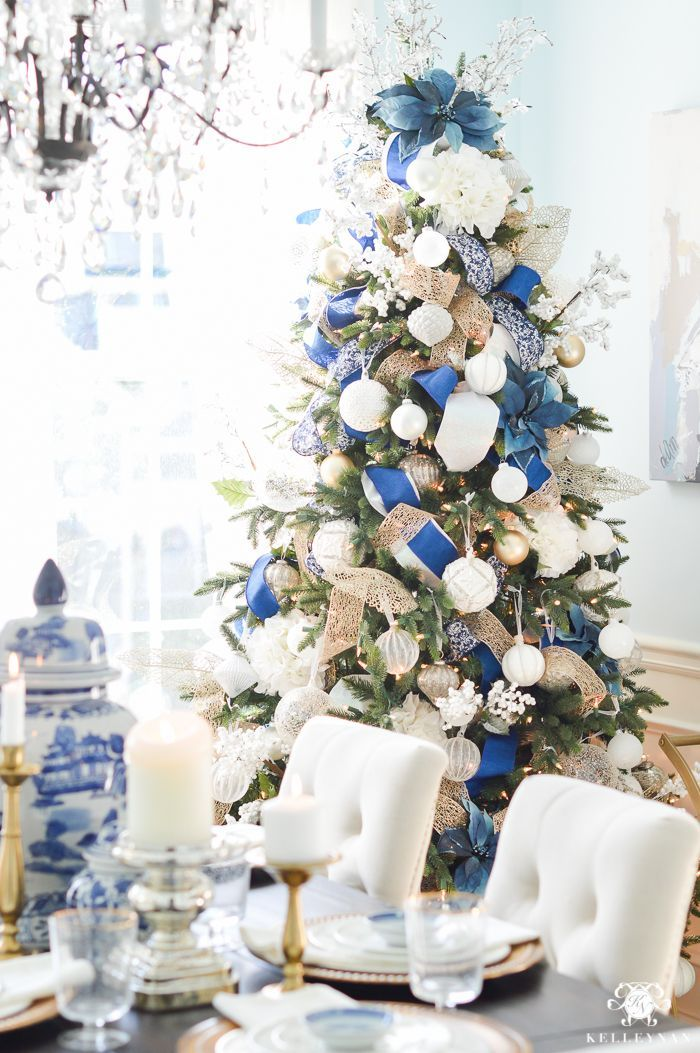 blue and white christmas dining room ideas hometalk diy christmas pinterest christmas christmas decorations and blue christmas