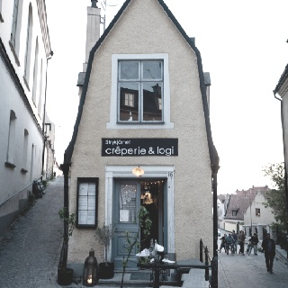 By the best crepes here at creperie & logi Visby, Gotland