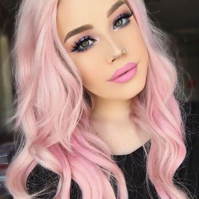 die besten 25 pastellrosa haare ideen auf pinterest rosafarbenes haar gef rbte haare und. Black Bedroom Furniture Sets. Home Design Ideas