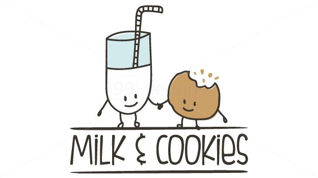Cookies And Milk Cartoon